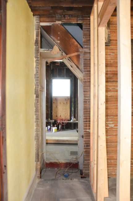 The area of the house currently being revised