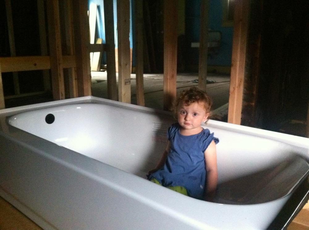 Enjoying the new tub
