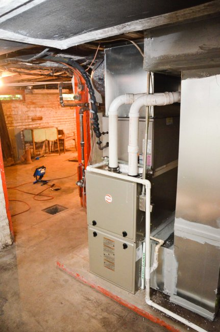 Downstairs furnace