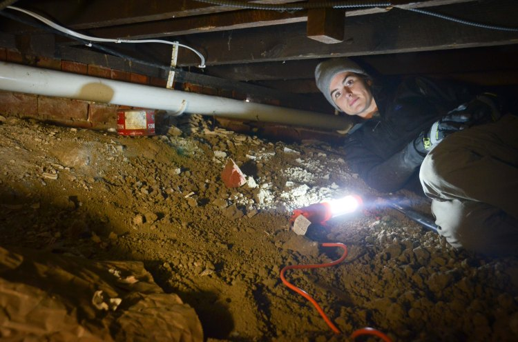 Running cable in the crawlspace