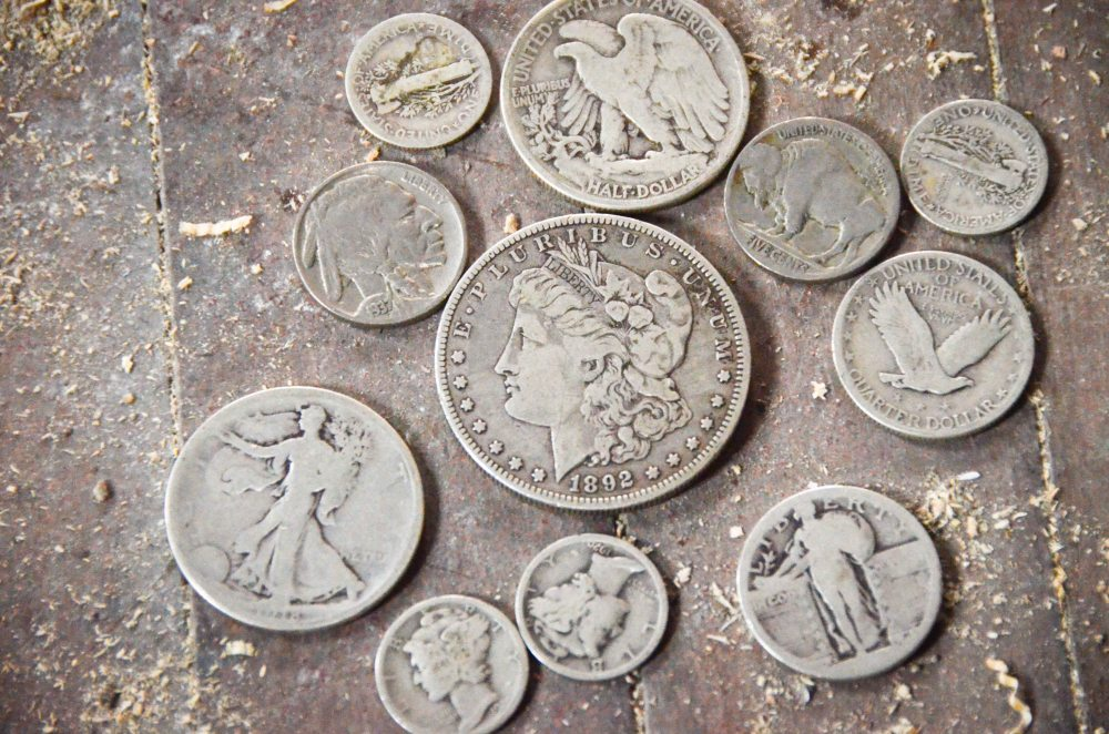 A sample of the coins we found