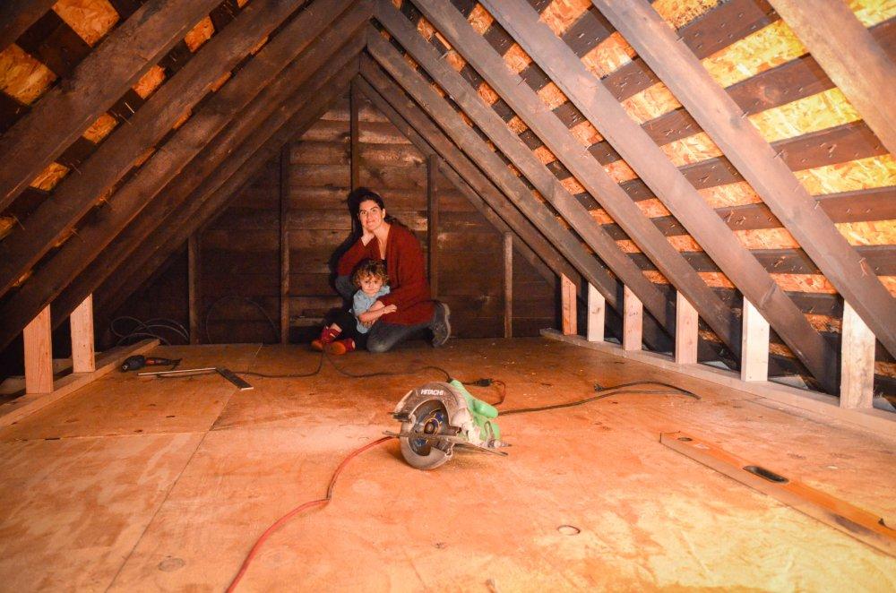 New floor and knee walls