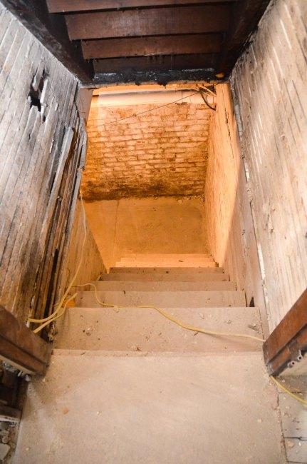 New basement stairs