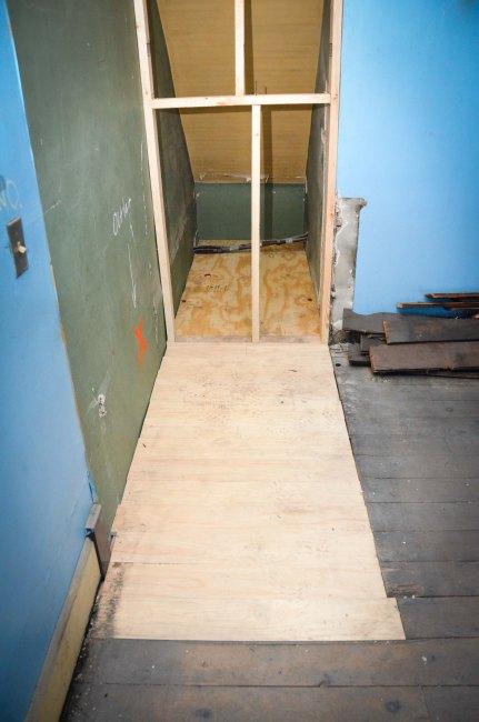 New flooring in master bedroom