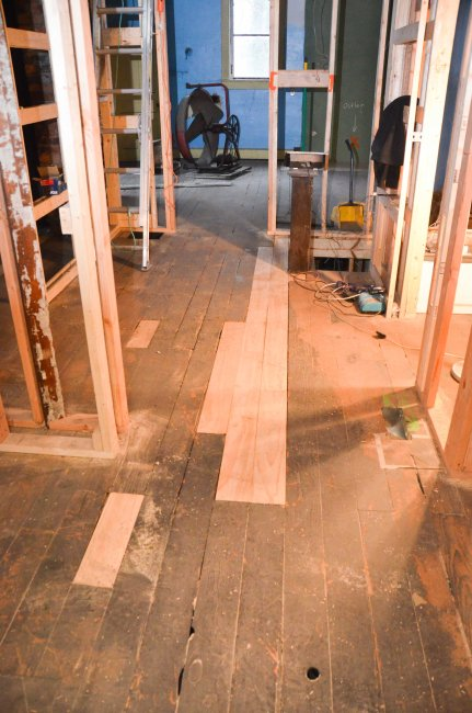Replacements for damaged floor boards