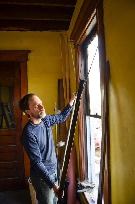 removing the lower sash