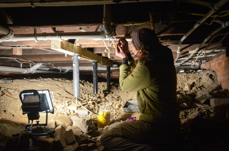 Under the crawl space... again!