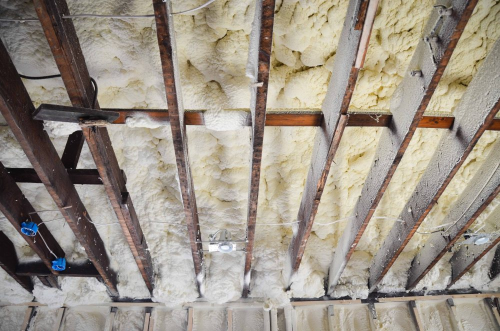 Insulation on the roof deck