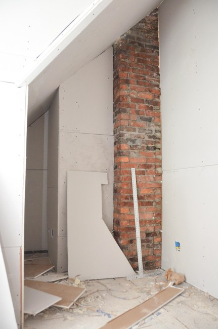 The chimney and sleeping nook