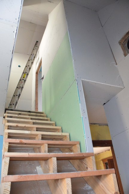 Looking of the stairs from the 1st floor
