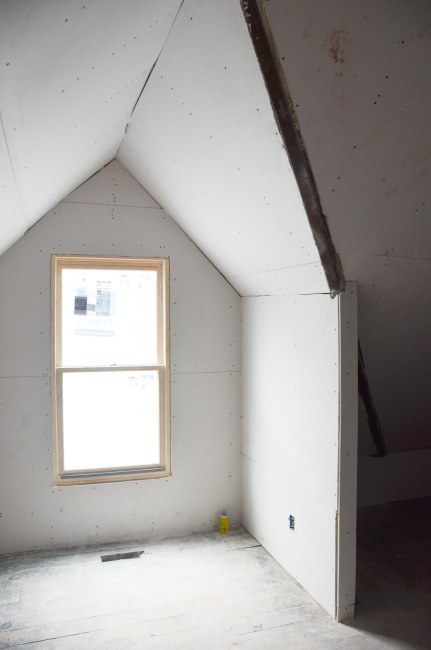 Aiden's window and future desk area