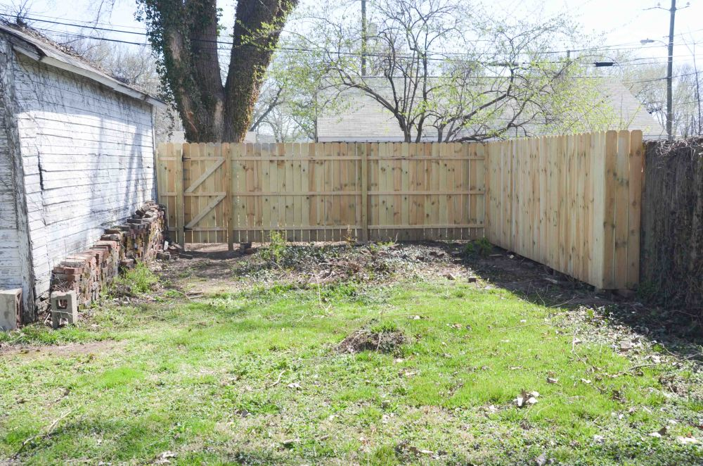Completed fence