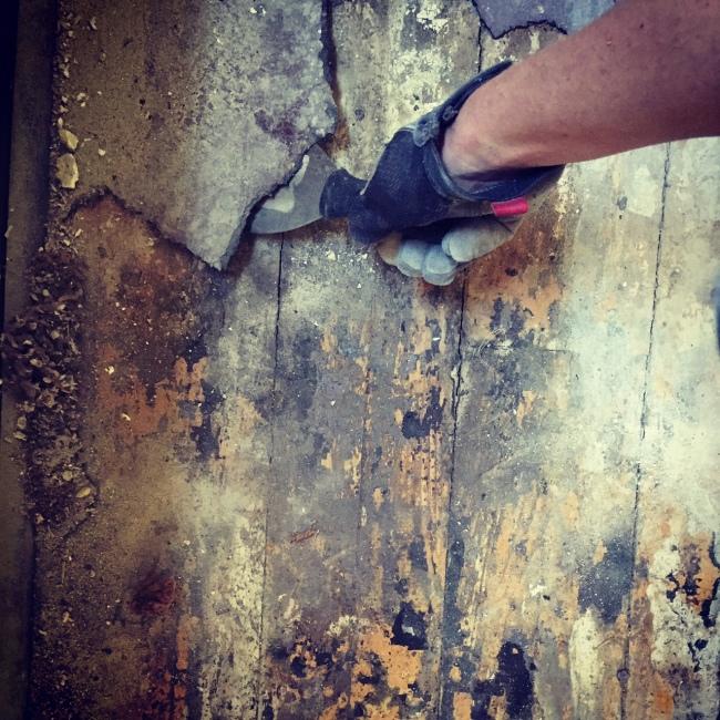 STEP ONE: remove linoleum