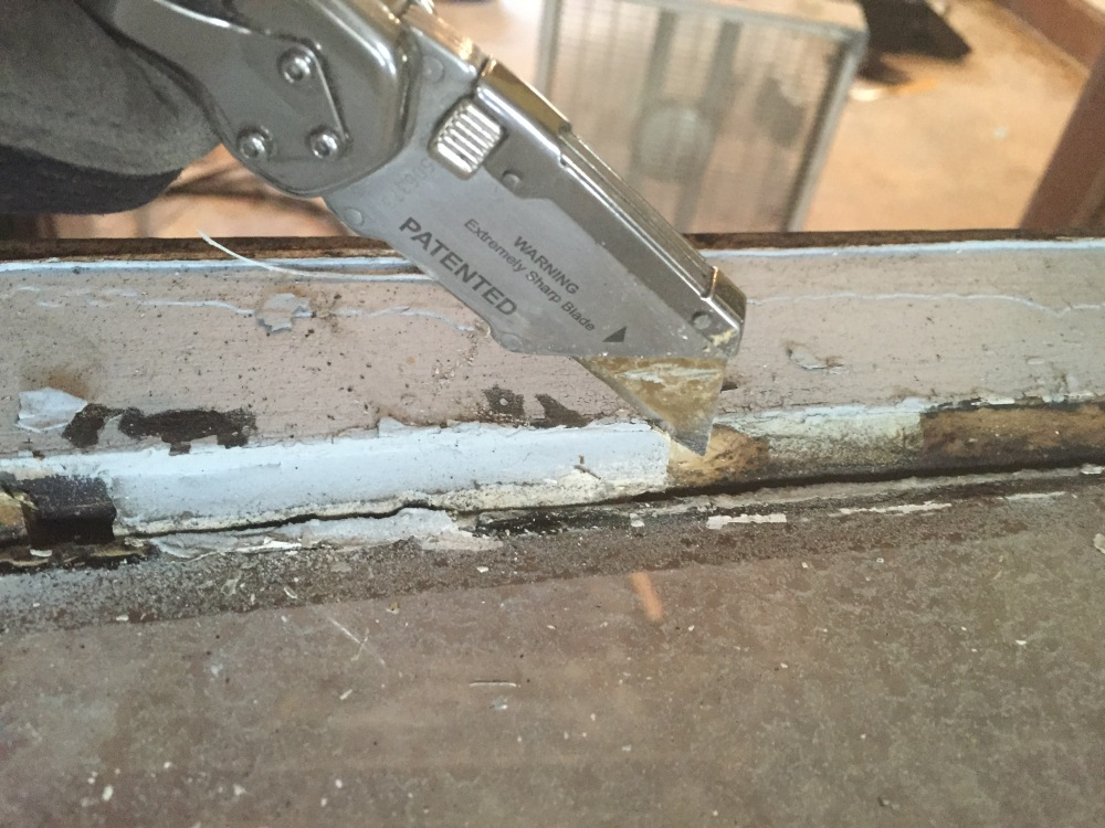 Using a utility knife might work better