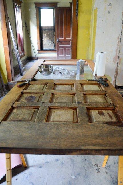 The door after drying