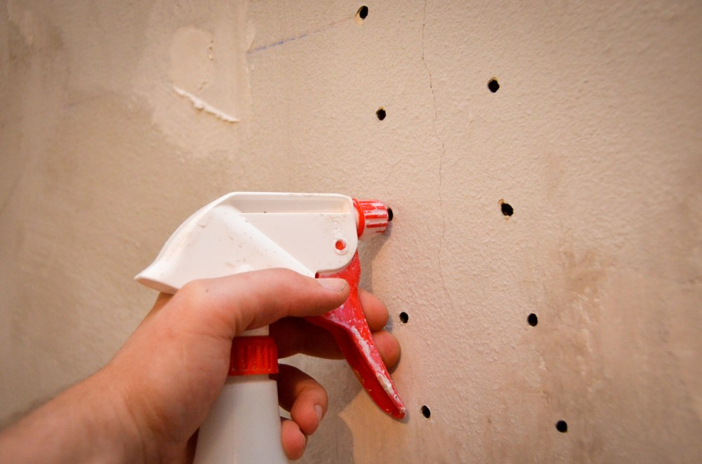 Preparing the holes for adhesive