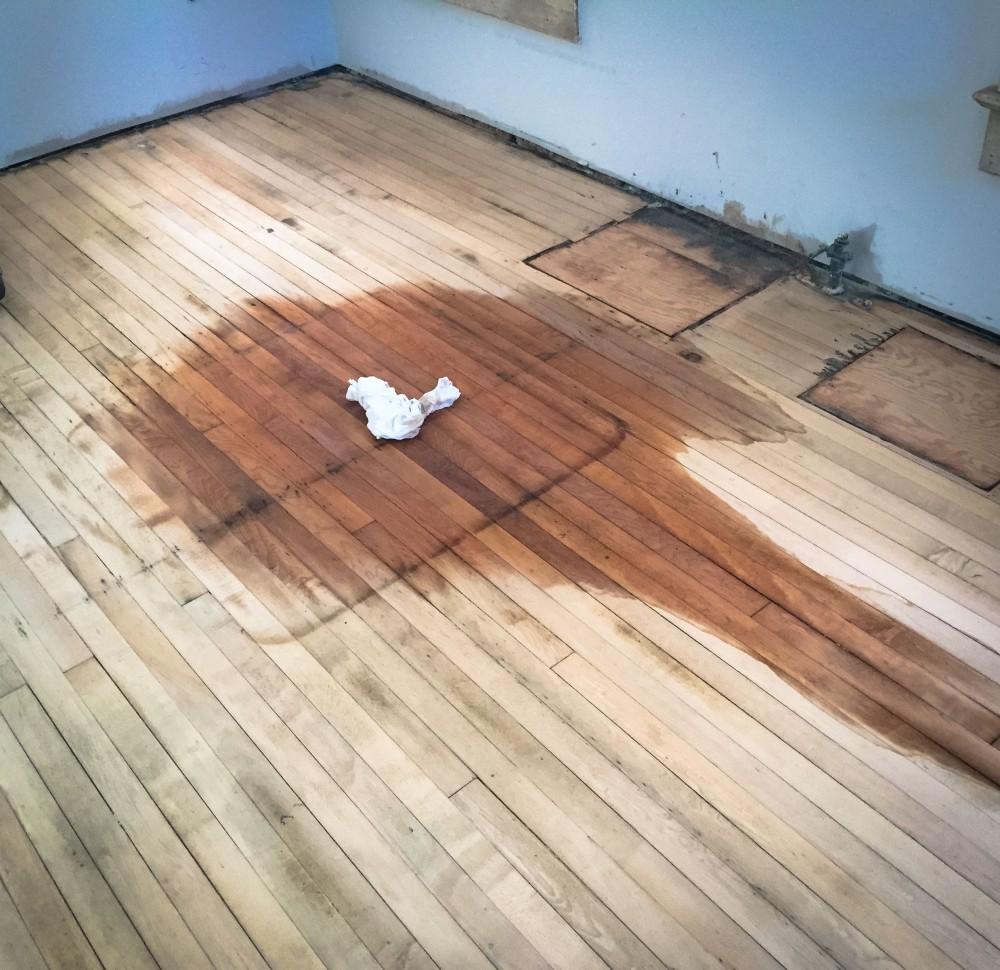 water on the kitchen floor