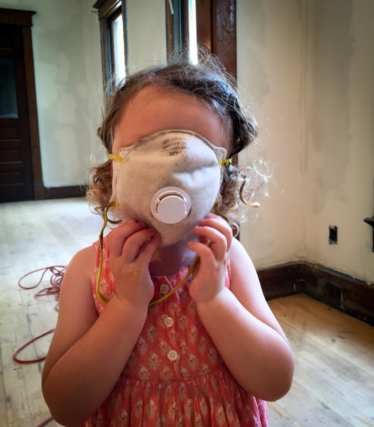 Lucy would help, if only we could find masks to fit a toddler