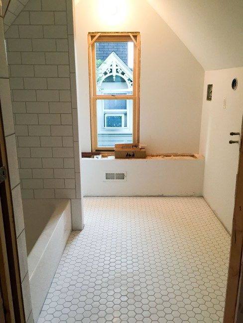 After the tile work