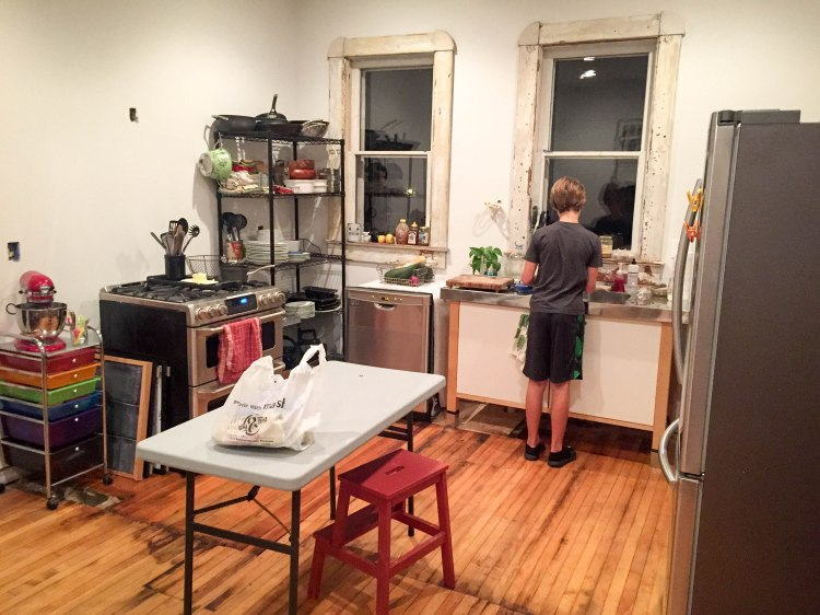 Our unfitted, free-standing, temporary-ish kitchen