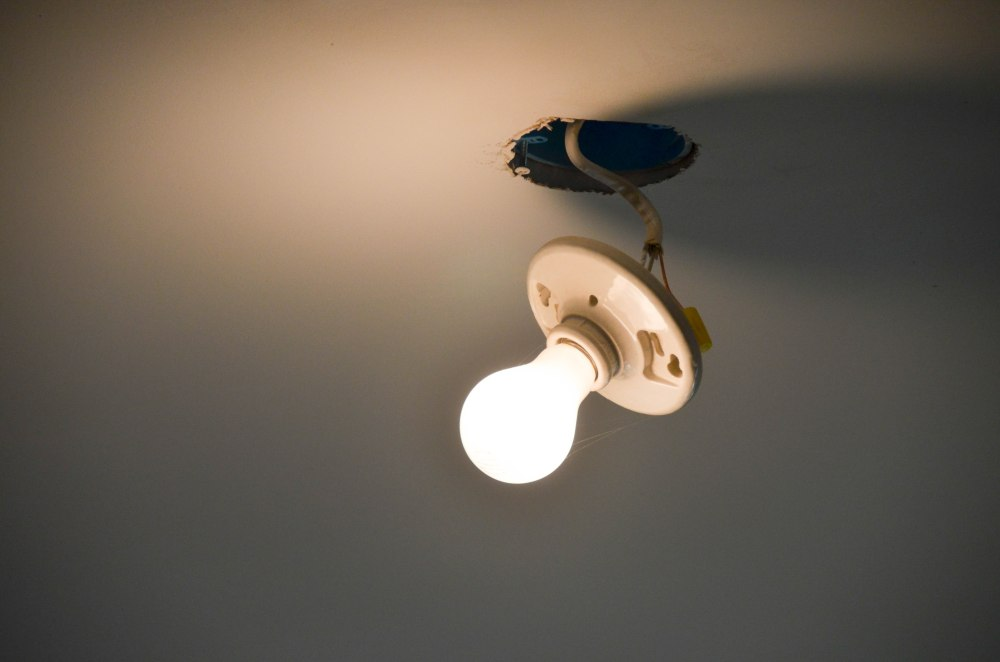 All of our ceiling fixtures still look like this