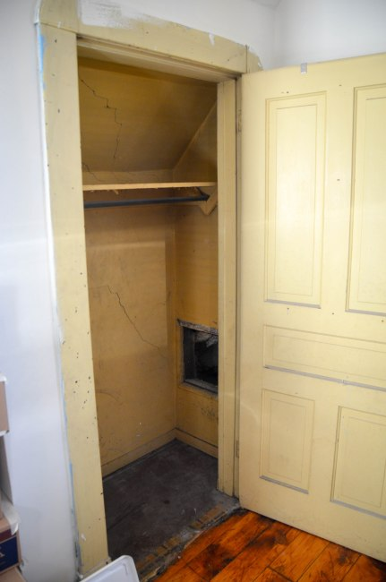 Perfectly usable closet, but just needed a little attention